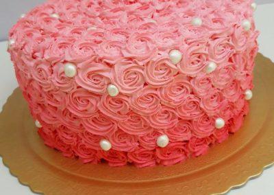 Smash the cake rosetas e pérolas