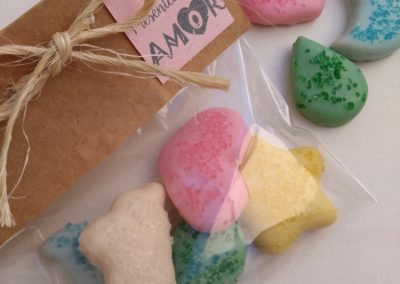 Mini biscoitos decorados